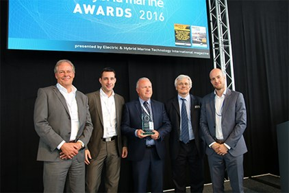 CMAL receiving the Electric & Hybrid Propulsion System of the year award